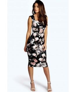 Új, BOOHOO virágos ruha / XL