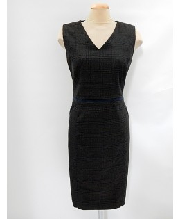 TU kockás szövet ruha / XL