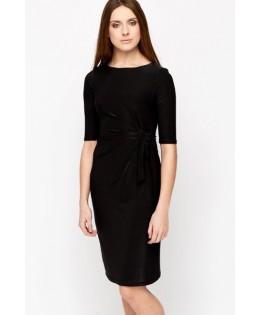 Új, RUCHED fekete ruha / L