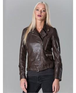Új, barna műbőr kabát  M, L