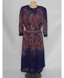Vidám színes öves ruha 2XL