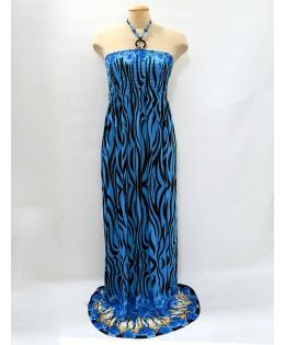 Maxi kék fekete ruha / 2XL
