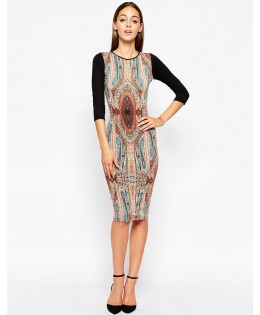 Új, keleties mintájú ruha / S,M,L