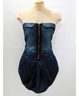 Új, DENIM farmer ruha / XL