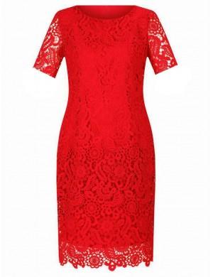 Új, piros csipke ruhák