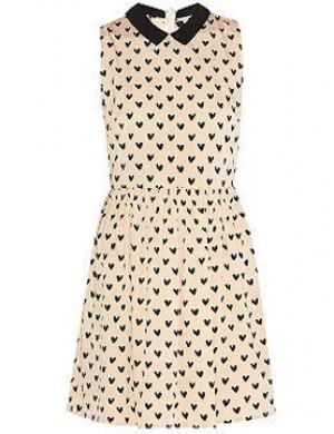 Apró szívmintás ruha / 2XL