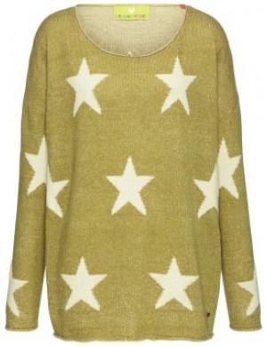 Drapp csillagos pulóver / L