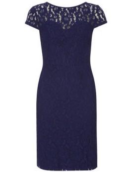 Új, s.kék csipke ruha / 2XL
