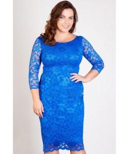 Új, csipke ruha kék / XL