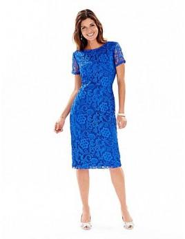 Új kék csipke ruha 5XL