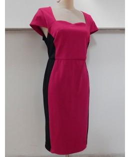 Új, pink - fekete ruha / 3XL